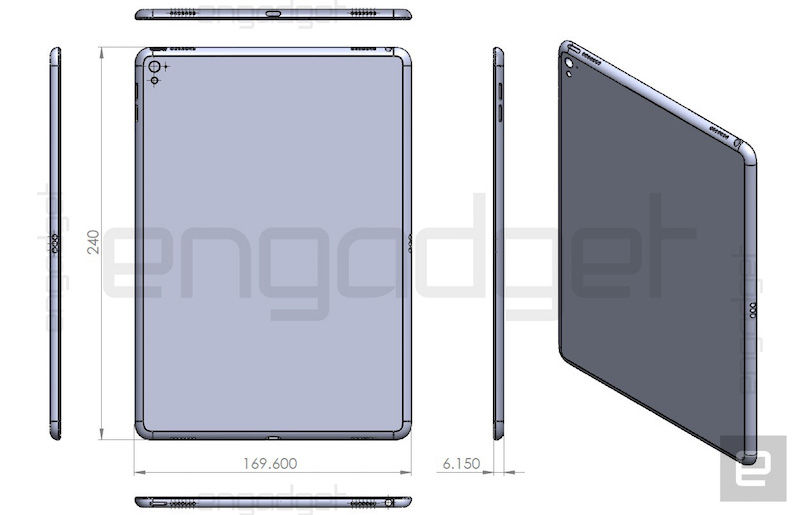 drawing of ipad air 3