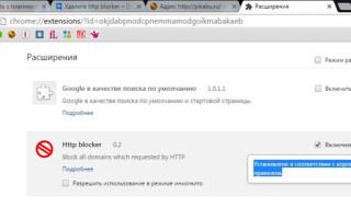 Расширение для браузера http blocker