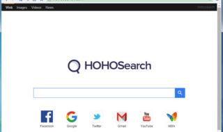 Липовая страница в браузере Hohosearch.com