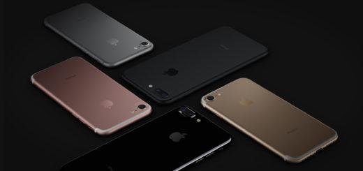 iphone 7 в 5 цветовых палитрах