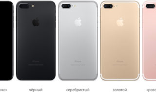 цветовая палитра нового iphone 7 Plus